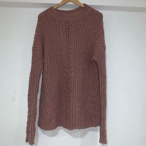 Lucky brand oversized rose pink sweater